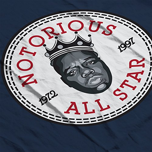 Notorious All Star Converse Logo Men's Hooded Sweatshirt Navy blue