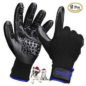 derni re version omorc gants poils animaux gant de toilettage chat brosse de massage chien. Black Bedroom Furniture Sets. Home Design Ideas