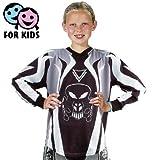 Roleff Racewear Motocross Shirt für Kinder, Schwarz Grau, Größe S/128