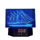 GY Luz de Noche - Luz de Reloj Creativa, Regalo, acrílico, luz de Ojo LED, Luminosa, luz de Noche Decorativa (tamaño 255x190x25mm) /+-+/