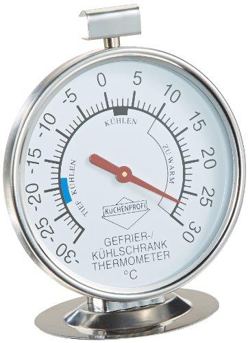 Küchenprofi 1065202800 Kühlschrank-Thermometer  edelstahl, silber, 4,2 x 7,4 x 13,4 cm