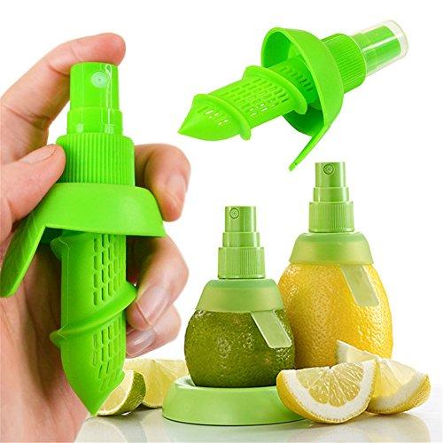 sungpunet 2Citrus Lemon Orange Salat Fruit Juice Extractor Streuen Saftpresse Spritze grün