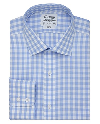 tmlewin-mens-non-iron-blue-block-check-slim-fit-button-cuff-shirt-15
