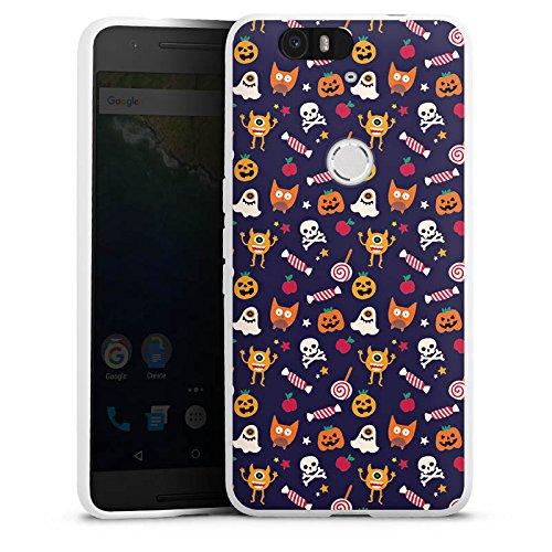 Google Nexus 6 P Silikon Hülle Case Schutzhülle Geist Kürbis Halloween (Halloween Kürbisse Google)