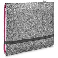 Stilbag maßgeschneiderte Tablet-Hülle FINN | Farbe: hellgrau-pink | Tablettasche aus Filz | Tablet Schutzhülle | Tasche Made in Germany