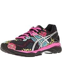 ASICS Women's Gel-Kayano 23 Running Shoe, Black/Silver/Pink Glow, 7 M US