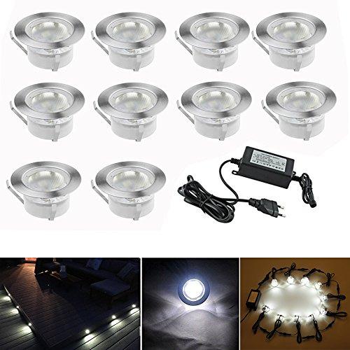 7colores, lámpara LED , ø45mm, foco para escaleras, juego de 10 unidades,...