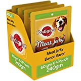 Pedigree Meat Jerky Stix Dog Treats, Bacon, 60 G Pouch (Pack Of 4)