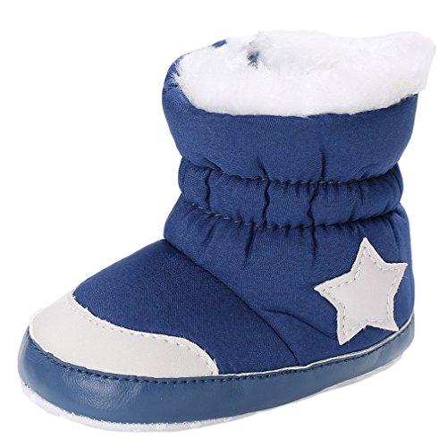 Y-BOA Bottes De Neige Mixte Enfance Fille Garçon Chaussure Chausson Ski Fourrure Hiver Chaude Antidérapant Boots