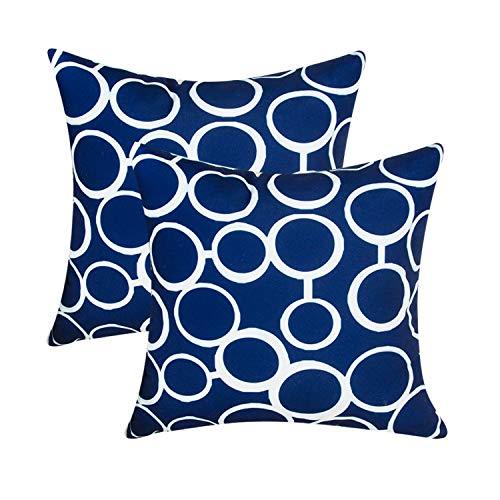 Top Finel Kissenbezüge aus strapazierfähigem Baumwollleinen, quadratisch, dekorativ, 45,7 x 45,7 cm, 6 Stück B-2 Packs, 18