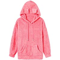 Hanomes Damen pullover, Frauen Herbst Mantel Fleece PocketFly Nette Kapuzen Solid Color Sweatshirts preisvergleich bei billige-tabletten.eu