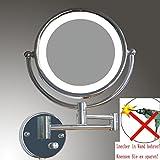 LOYWE LED Beleuchtet wunderschöne Kosmetikspiegel 1+10F hochwertig ohne Bohren LWW57-10-NB