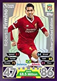 MATCH ATTAX 17/18 ROBERTO FIRMINO SILVER LIMITED EDITION CARD LE3S - LIVERPOOL 2017/18