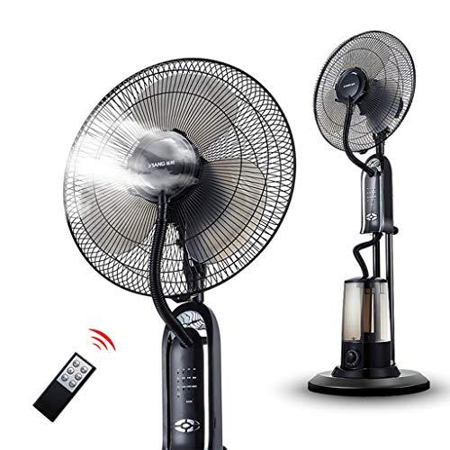 Preisvergleich Produktbild DIKA UK fan - kühlung Klimaanlagen-Ventilator-Haushalts-vertikaler Stand-Boden-Beschlagen-Spray,  der Luftbefeuchter abkühlt Fügen Sie Wasser-oszillierenden Atomisierungs-industriellen Ventilator mit Fernbedienung-Schwarzes,  3 Ventilator-Blatt hinzu