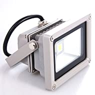 Sourcing4U X1-10w-FL-GR-W-Projecteur LED 10W grise/blanche chaude