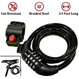 BABYGO Strong Cable Bicycle Lock & Helmet Lock for Cycles etc