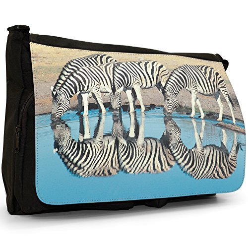 Fancy A Bag Borsa Messenger nero Zebra Zebra