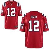 12 Brady Tom Trikot New England Patriots Jersey American Football Shirt Youth Red Size M