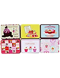 Cute Cup-Cakes~ Metal Tin Case Pouch For Earphone Pouch Case Bag Coins Memory Card Pouch Pendrive Bag Pouch Box...