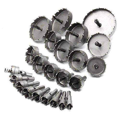 ChaRLes 23Pc 16-100Mm Foro Sega Trapano Punta Set Punte In Carburo Trapano Bit Tct Metal Cutter