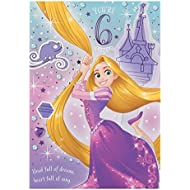 Hallmark Disney Tangled 6th Birthday Card Full Of Dreams - Medium