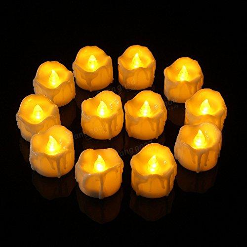 Pegasus 12pcs lámpara sin llama sin llama de la lámpara de la noche de las velas de la luz del té de 12pcs