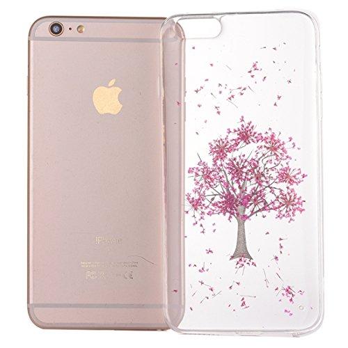 Wkae Epoxy Dripping gepresst echte getrocknete Blume weiche transparente TPU Schutzhülle für iPhone 7 ( SKU : Ip7g2996n ) Ip7g2996l