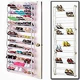 Vinteky 36 Paar- Schuhregal mit Haken zum Aufhängen an der Tür - Schuhschrank