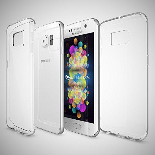 Samsung Galaxy S8 Hülle Handyhülle von NICA, Ultra-Slim Silikon Case Cover Crystal Schutzhülle Dünn Durchsichtig, Etui Handy-Tasche Backcover Transparent Bumper für Samsung S8 Phone, Farbe:Rot Transparent