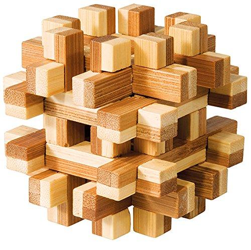 GmbH Bambus-Puzzle magic blocks IQ-Test Knobelspiel Holz