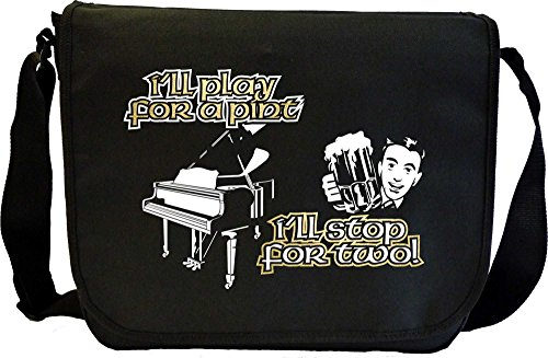 Piano Play For A Pint - Sheet Music Document Bag Musik Notentasche MusicaliTee