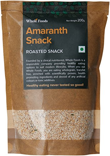 Whole Foods amaranth Snack, 200g  available at amazon for Rs.113