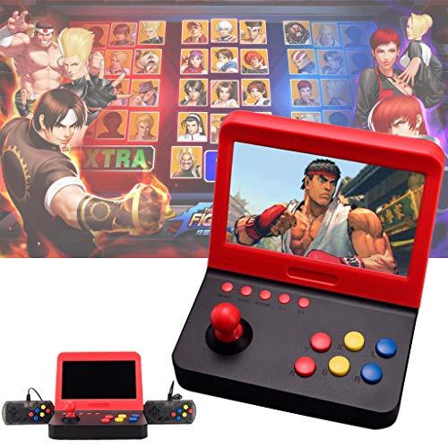 Jamicy ® Handheld Spielkonsole, 7 Zoll 3000 integrierte Spiele Farb-Digital-TFT-Bildschirm mit 2 Game-Handle, Retro Game Player das Beste Geburtstagsgeschenk für Kinder 7-farb-video