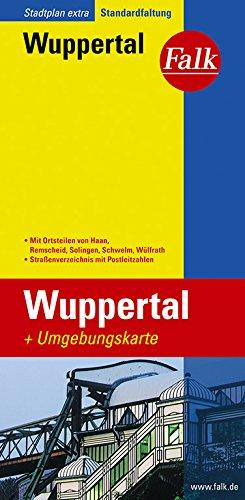 Falk Stadtplan Wuppertal, Extra Standardfaltung