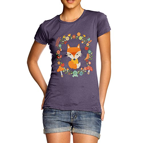 TWISTED ENVY Women's White Fox T-Shirt