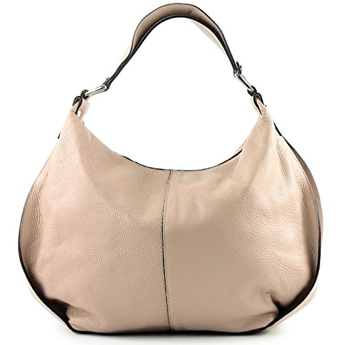 modamoda de -. Ital signore borsa in pelle tracolla borsa tracolla in pelle borsa T143 Rosabeige