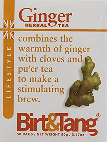 Birt & Tang Ginger 50 Teabags (Pack of 2, Total 100 Teabags)