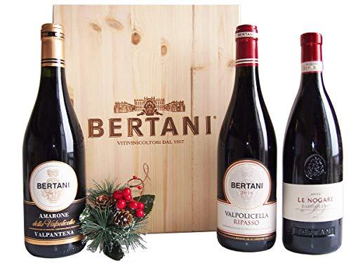 Cassetta Vini Amarone Valpolicella Ripasso Bardolino Bertani - Auguri Speciali dal Veneto - cod V180