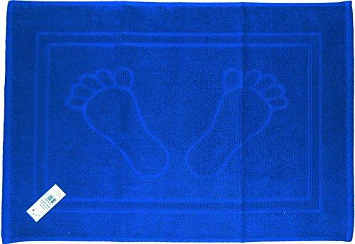 Tappetino da bagno spugna di cotone al 100% delle dimensioni di 50x 70 tinta unita 100% cotone Blau füße 50 x 70