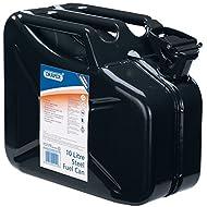 Draper 54451 10l steel fuel can (black)