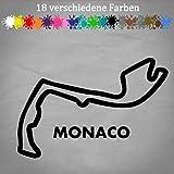 Generic Monaco Rennstrecke Aufkleber 18x12cm Layout Umriss Track Formel 1 Monte Carlo VW in 18 Farben