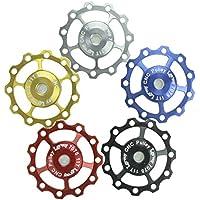2 Pcs Lerway A-05 11T Bicicletta Derailleur Guidacinghia Ruote Alluminio Pulley Jockey CNC Wheel SHIMANO SRAM-Argento - Cuscinetto Ruota Corsa