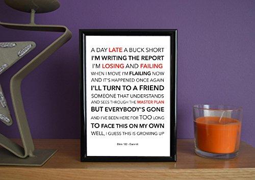 Framed-Blink 182-Dammit-Poster Art Print, 12,7x 17,8cm