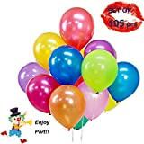 Unique'store 105 Ballons Colorés Ronds Latex,Ballons Multicolores pour Fêtes,...