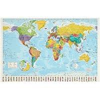 1art1 32100 Mapamundi - Mapamundi político, edición de 2008 (91 x 61 cm)