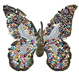 wicemoon bestickt Patches Schmetterling Badge Aufnäher Pailletten DIY Zubehör Label Patchwork für Kleidung Taschen