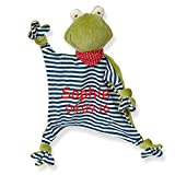 Sigikid Schmusetuch green mit Namen bestickt Baby Geschenk zur Geburt Schnuffeltuch Hase Maus Bär (Frosch)
