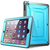 iPad Air 2 Hülle, SUPCASE® [Heavy Duty] Apple iPad Air 2 Schutzhülle [2. Generation] Modell 2014 [Unicorn Beetle PRO Series] Full-body Rugged Hybrid Protective Case Cover mit integriertem Bildschirmschütz, Blau/Schwarz - Dual Layer Design + Anti-Schock Schutzleisten (Blau/Schwarz)