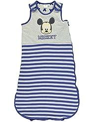 Mickey Mouse Jersey bolsa de dormir para niño bolsa saco de dormir infantil bebé azul/GRY, azul/gris, 3-6 meses