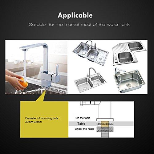 Auralum – Elegante 360° schwenkbare Küchenarmatur, Chrom - 7